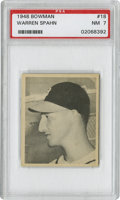 Baseball Cards:Singles (1940-1949), 1948 Bowman Warren Spahn #18 PSA NM 7....