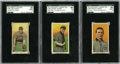 Baseball Cards:Lots, 1909-11 T206 Tinker, Evers, and Chance Group Lot of 3.... (Total: 3cards)