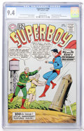 Silver Age (1956-1969):Superhero, Superboy #100 (DC, 1962) CGC NM 9.4 White pages....