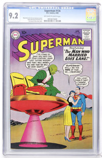 Superman #136 (DC, 1960) CGC NM- 9.2 Off-white to white pages