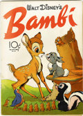 Golden Age (1938-1955):Cartoon Character, Four Color #12 Walt Disney's Bambi (Dell, 1942) Condition: ApparentVG....