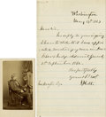 "Autographs:Statesmen, Joseph Holt Letter Signed ""J. Holt."", about one-half page,5"" x 8"", Washington, 17 May 1873, informing John Neafie ""th...(Total: 2 Items)"