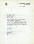 Autographs:Celebrities, Neil Armstrong Typed Letter Signed as Professor of Aerospace Engineering at the University of Cincinnati....