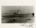 Autographs:Celebrities, Neil Armstrong Wright Brothers Flight Photo Signed....