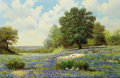 Texas:Early Texas Art - Regionalists, WILLIAM ROBERT THRASHER (American, 1908-1997). Bluebonnets.Oil on canvas. 24 x 36 inches (61.0 x 91.4 cm). Signed lower...
