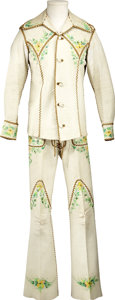 Music Memorabilia:Costumes, Elvis Presley's Two-Piece Custom Chamois Leather Suit....