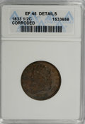 1833 1/2 C --Corroded--ANACS. XF45 Details. NGC Census: (4/321). PCGS Population (16/326). Mintage: 120,000. Numismedia...