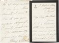 "Autographs:U.S. Presidents, Mary Todd Lincoln Autograph Letter Signed. Four pages, 4"" x 6"", onher monogrammed mourning stationery (black-bordered on th..."