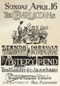 "Music Memorabilia:Posters, Charlatans/Mystery Trend California Hall Concert Poster (1967) 14""x 20""...."