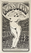 "Music Memorabilia:Posters, Jefferson Airplane ""The Sound"" Winterland Concert Poster BG-29(Bill Graham, 1966) 14"" x 24.5""...."