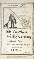 Music Memorabilia:Posters, Big Brother and the Holding Company Carousel Ballroom ConcertPoster (1968)....