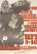 "Music Memorabilia:Posters, Quicksilver Messenger Service/Great Society Indian AvalonBallroom Concert Poster FD-25 (Family Dog, 1966) 13.75"" ..."