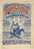 "Music Memorabilia:Posters, Human Be-In Pow-Wow Event Poster 14"" x 20"" (1967)..."