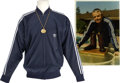 Movie/TV Memorabilia:Costumes, Glenn Ford's Jacket and St. Christopher Medallions.... (Total: 4Items)