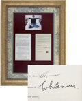 "Music Memorabilia:Autographs and Signed Items, Beatles Related - John Lennon Signed ""Honey Pie"" Agreement...."
