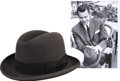 Movie/TV Memorabilia:Costumes, Glenn Ford's Dark Gray Trilby Hat....