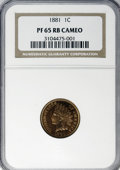Proof Indian Cents, 1881 1C PR65 Cameo Red and Brown NGC....