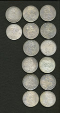 Mexico, Mexico: A large group of Balance Scale Pesos including:... (Total:14 coins)