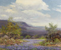 Texas:Early Texas Art - Regionalists, ROBERT WILLIAM WOOD (American, 1889-1979). BluebonnetMeadow. Oil on canvas. 25 x 30 inches (63.5 x 76.2 cm). Signedlow...