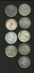 Mexico, Mexico: Group lot of bust 8 Reales as follows:... (Total: 9 coins)