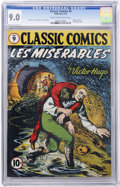 Golden Age (1938-1955):Classics Illustrated, Classic Comics #9 Les Miserables - Original Edition (Gilberton,1943) CGC VF/NM 9.0 Cream to off-white pages....