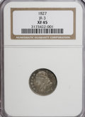 Bust Dimes: , 1827 10C XF45 NGC. JR-3. NGC Census: (9/203). PCGS Population(9/193). Mintage: 1,300,000. Numismedia Wsl. Price for NGC/P...