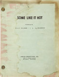 Movie/TV Memorabilia:Documents, Billy Wilder Some Like It Hot Original Script withAnnotations,...