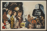 """Star Wars (20th Century Fox, 1977). Promotional Posters (2) (18"""" X 28"""" and 12.5"""" X 19""""). Science Fic..."""