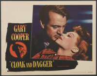 """Cloak and Dagger (Warner Brothers, 1946). Lobby Card (11"""" X 14""""). Thriller"""