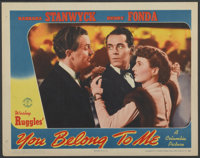 "You Belong to Me (Columbia, 1941). Lobby Card (11"" X 14""). Romance"