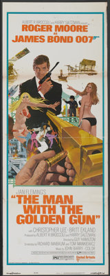 "The Man With the Golden Gun (United Artists, 1974). Insert (14"" X 36""). James Bond"