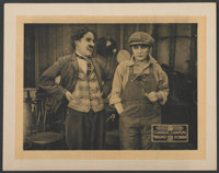 "Behind the Screen (Republic, R-1920s). Lobby Card (11"" X 14""). Comedy"