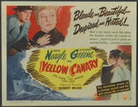 """Yellow Canary (RKO, 1944). Title Lobby Card (11"""" X 14""""). Thriller"""