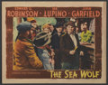 "Movie Posters:Adventure, The Sea Wolf (Warner Brothers, 1941). Lobby Card (11"" X 14"").Adventure...."