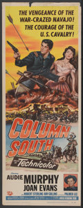 "Movie Posters:Western, Column South (Universal, 1953). Insert (14"" X 36""). Western...."