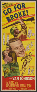 """Movie Posters:War, Go for Broke! (MGM, 1951). Insert (14"""" X 36""""). War...."""