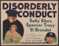 """Disorderly Conduct (Fox, 1932). Title Lobby Card (11"""" X 14""""). Comedy"""