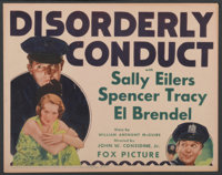 "Disorderly Conduct (Fox, 1932). Title Lobby Card (11"" X 14""). Comedy"