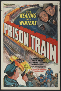 """Prison Train (Equity, 1938). One Sheet (27"""" X 41""""). Crime"""