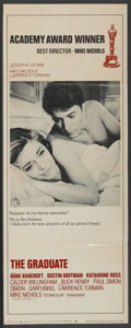 "Movie Posters:Comedy, The Graduate (Embassy, 1967). Insert (14"" X 36"") Academy AwardStyle. Comedy...."