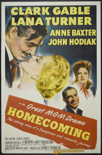 "Homecoming (MGM, 1948). One Sheet (27"" X 41""). Drama"