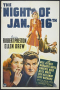 "Movie Posters:Mystery, The Night of January 16th (Paramount, 1941). One Sheet (27"" X 41"").Mystery...."