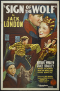 "Movie Posters:Adventure, Sign of the Wolf (Monogram, 1941). One Sheet (27"" X 41"").Adventure...."