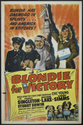"Movie Posters:Comedy, Blondie For Victory (Columbia, 1942). One Sheet (27"" X 41"").Comedy...."