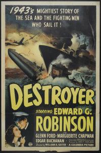 "Destroyer (Columbia, 1943). One Sheet (27"" X 41"") Style B. War"