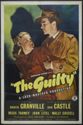 "Movie Posters:Film Noir, The Guilty (Monogram, 1947). One Sheet (27"" X 41""). Film Noir...."