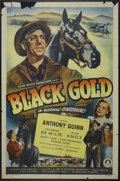 "Movie Posters:Action, Black Gold (Monogram, 1947). One Sheet (27"" X 41"") Style B.Action...."