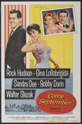 "Movie Posters:Comedy, Come September (Universal, 1961). One Sheet (27"" X 41""). Comedy...."