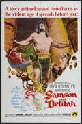 "Movie Posters:Adventure, Samson and Delilah (Paramount, R-1968). One Sheet (27"" X 41"").Adventure...."