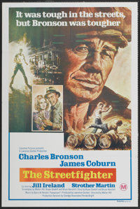 "Hard Times (Columbia, 1975). Australian One Sheet (27"" X 40""). Drama. Retitled The Streetfighter in Australia..."